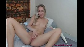 Naughy blonde using vibrator on FreeHotCams.cf