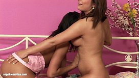 Hot lesbian fingering and kissing with Belina and Melany by Sapphic Erotica in B