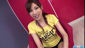 Kana Miura amazing blowjob in steamy manners
