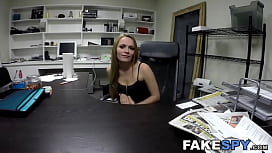 Bigass blonde banged and sucking future employers dick