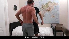 FamilyDick - Bear Daddy Fucks Teen In His Bedrom