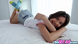 Lovely Teen Zaya Cassidy swallows a big meat