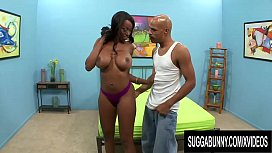 Busty Ebony Codi Bryant Jiggles Her Phat Ass While Riding a BBC