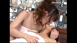 2 Girls In Towels Kissing Rubbing Breasts On The Bed