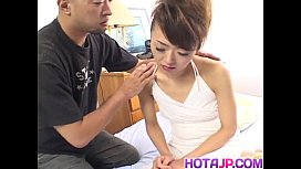 Japanese AV Model has hairy nooky licked before is drilled a lot