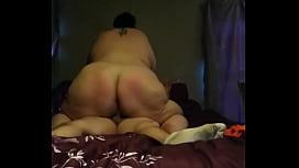 BBW riding a fat hard cock