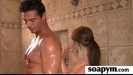 a very hot soapy massage and a hard fucking 24