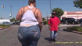 BBW Victoria Secrets Grinds Her Mega Butt On A Hard Cock
