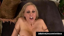 Busty Blonde Milf Julia Ann Gets Her Mature Muff Stuffed!