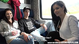 Foursome Sex in Public TRAIN