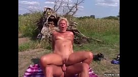 Granny Outdoor Anal