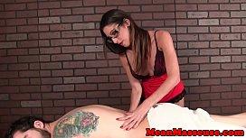 Spex milf masseuse ruining clients orgasm