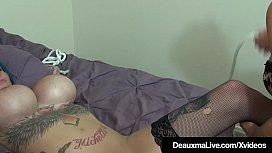 Big Boobed Cougar Deauxma Strap On Fucks Inked Harlynn Rae!