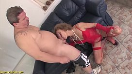 75 years old mom first time b. anal fucked