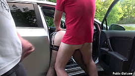 Jessica fucked and creampied by 8 strangers at a rest area
