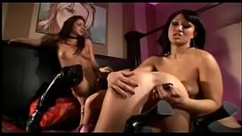 Three sexy lesbians fuck each other with different toys in asses and cunts