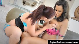 Sophie Dee &amp_ Lisa Ann Cum While Anal &amp_ Pussy Tongue Fucking!