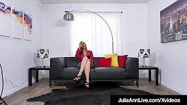 Sweet Talking Milf Julia Ann Mouth Fucks Cock POV!
