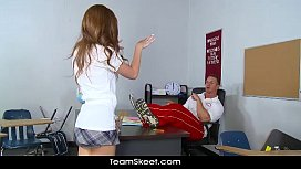 InnocentHigh Maddy Oreilly brunette smalltits schoolgirl teen hardcore intense s