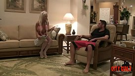 Young patient  puts his 10&quot_ cock to his mature MILF Nurse  Sally D'_angelo Brad Knight
