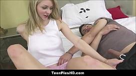 Blonde Teen Step Sister Creampie From Sleepwalking Brother