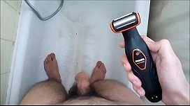 Shaving My Big Thick Sexy Hot Hairy Cock &amp_ Balls in the BathRoom !!!