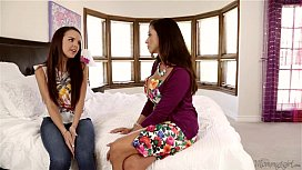 I have lesbian experience before your Dad! - Dillion Harper, Ariella Ferrera