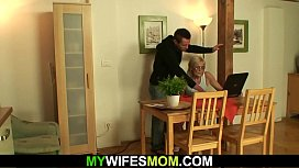 Fucking old girlfriend'_s mother from behind