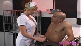 Slutty Nurse Fucks her Patients Every Time She Can