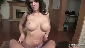 m. Caught him and Helps With Blowjob in POV to Cum