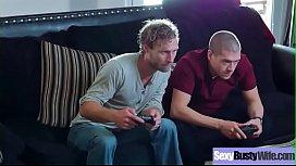 Hard Sex On Cam With Big Juggs Hot Wife (Ariella Ferrera) mov-04