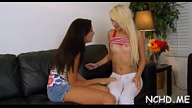 Cunning blonde Ariana Marie gets her tang torn apart