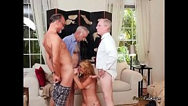 Young Blondie Raylin Ann Blows Hung Old Men