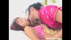 Japanese Lesbians Kiss 16