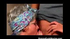 Hot Grandma Sucks a y.