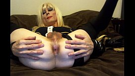 Sexy Tasha Dirty Talk Blond Slut Crossdresser Showing Ass