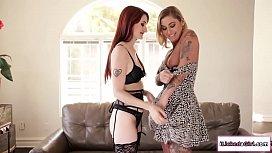 Redhead lesbian eats tattooed gfs pussy