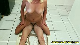 Fucking &amp_ Golden Showers on the Kitchen Floor Home Video