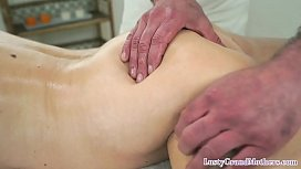 Bigtits euro cougar anally drilled by masseur