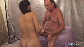 Young Teen Blows Pervy Older Man