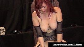 Hot Busty Lauren Phillips Fucks &amp_ Rides Huge Sex Ball!
