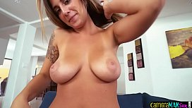 Busty glam babe gets her pussy pov drilled