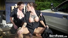Big booty police women pounded by black suspect in public