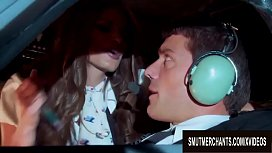 Lucky Pilot Gets Wildly Served by Big Tits Stewardess Madelyn Marie