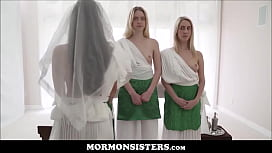 Cute Tiny Latina Mormon Teen Pleasured To Orgasm By Two Mormon Sisters