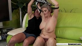 Big Titted GILF Aliz B rides that dick like a pro