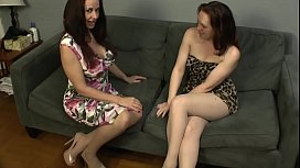 Diana Knight and Evangelines pantyhose foot frolic
