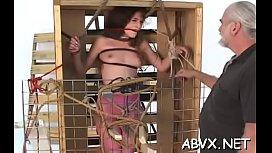 Coarse lesbian bondage in amateur scenes along hot sweethearts