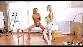Classy blonde Skylar Green caressed tenderly