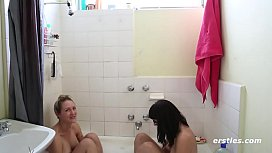 Shaving her Friends Hairy Pussy